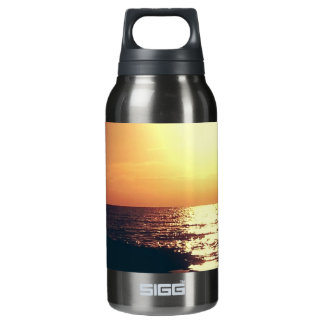 Orange Mississippi Sunset over the Gulf Insulated Water Bottle
