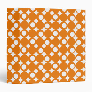 Orange Mod Ball Design @ Emporio Moffa 3 Ring Binder