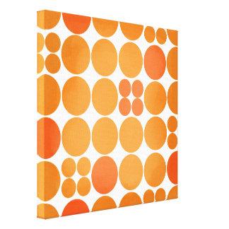 Orange mod dot gallery wrapped canvas