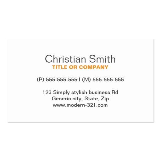 Orange modern generic simple elegant personal business for Generic business cards