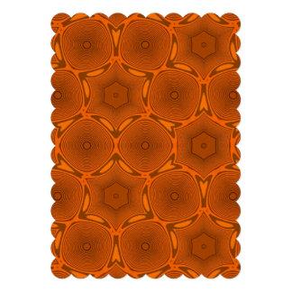 Orange modern pattern invite