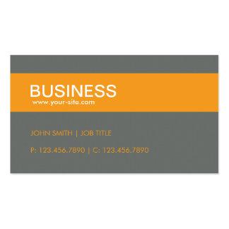 Orange Modern Stylish Classy Plain Simple Business Card Templates