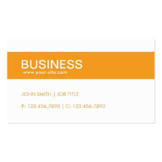 Orange Modern Stylish Classy Plain Simple Double-Sided Standard Business Cards (Pack Of 100)