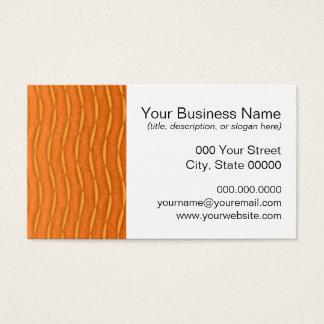 Orange Modern Vertical Striped Design Business Card