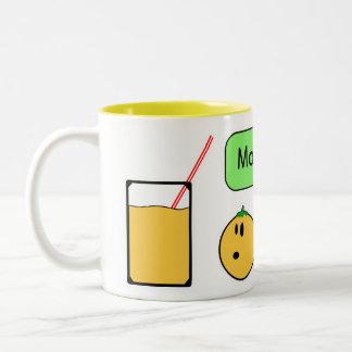 orange mom Two-Tone coffee mug