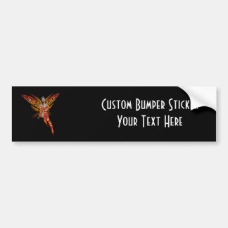 Orange Monarch Butterfly 3D Pixie - Fairy 1 Bumper Sticker