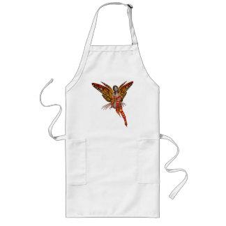 Orange Monarch Butterfly 3D Pixie - Fairy 1 Long Apron