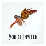 Orange Monarch Butterfly 3D Pixie - Fairy 2 Custom Announcement