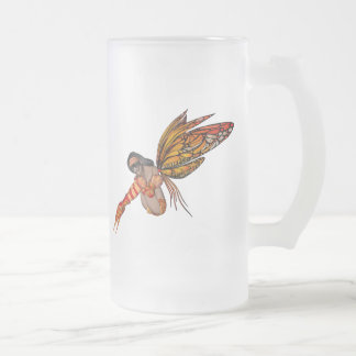 Orange Monarch Butterfly 3D Pixie - Fairy 2 Coffee Mug