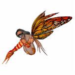 Orange Monarch Butterfly 3D Pixie - Fairy 2 Acrylic Cut Out
