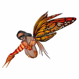 Orange Monarch Butterfly 3D Pixie - Fairy 2 Standing Photo Sculpture
