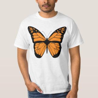 Orange Monarch Butterfly Illustration T-Shirt