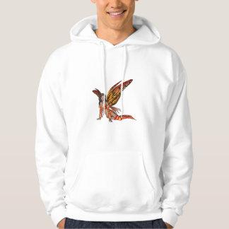 Orange Monarch Pixie Butterfly Fairy 3 - Hooded Sweatshirt