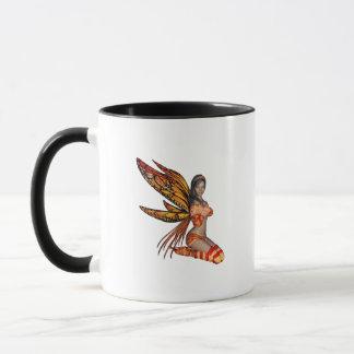 Orange Monarch Pixie Butterfly Fairy 4 - Mug