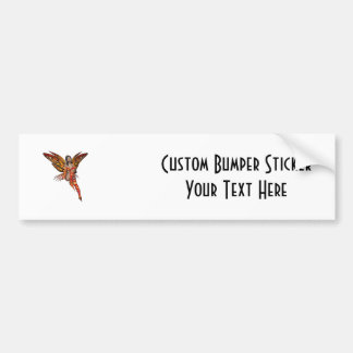 Orange Monarch Pixie Butterfly Fairy 7 - Bumper Sticker