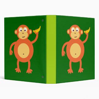 Orange Monkey 3 Ring Binder