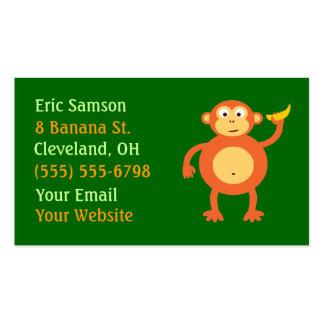 Orange Monkey Business Cards