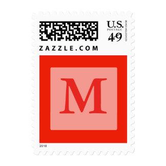 orange monogram postage