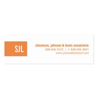 Orange Monogram Strip Business Card Template