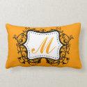 Orange Monogrammed Pillow