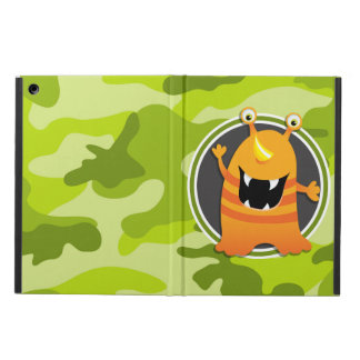 Orange Monster; bright green camo, camouflage iPad Air Case