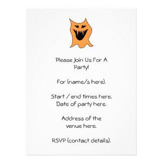 Orange Monster. Invite