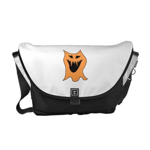 Orange Monster. Messenger Bags