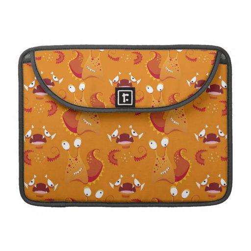 Orange Monster Print MacBook Pro Sleeve