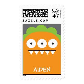 Orange Monster Stamp