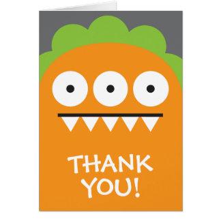 Orange Monster Thank You Card