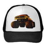 Orange Monster Truck Trucker Hat