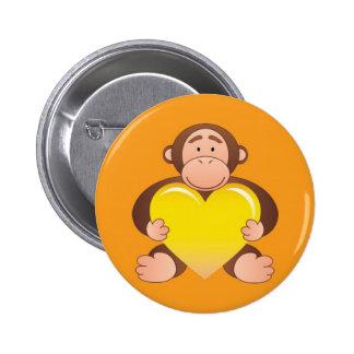 Orange Monty Button