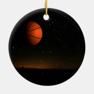 Orange Moon Ceramic Ornament