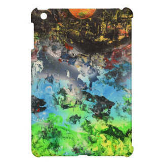 Orange Moon over the forest and misty mountains iPad Mini Cover