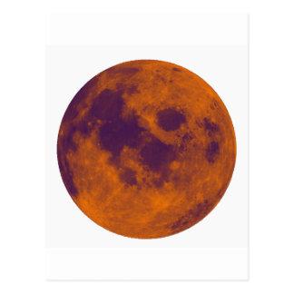 Orange moon postcard