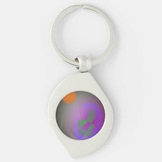 Orange Moon Purple Egg Keychain