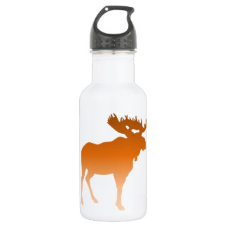 Orange Moose Stainless Steel Water Bottle