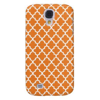Orange Moroccan Pattern Samsung Galaxy S4 Case
