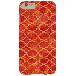 Orange Moroccan pattern iPhone 6 Plus Case