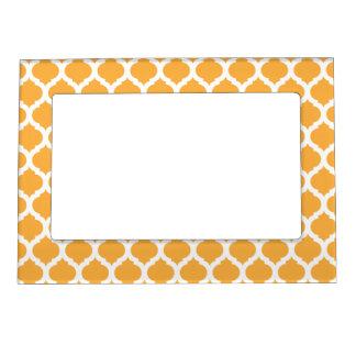 Orange Moroccan Pattern Magnet Picture Frame