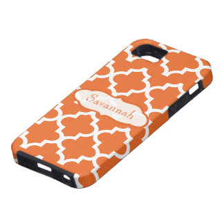 Orange Moroccan Personalized iPhone iPhone 5 Covers