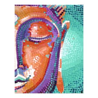 Orange mosaic buddha face letterhead