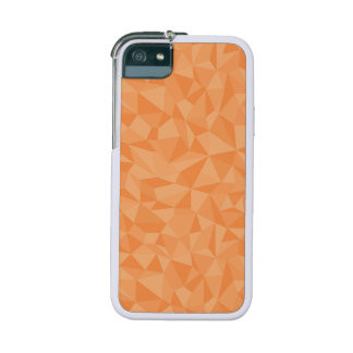 Orange Mosaic Triangles Abstract Geometric Pattern Cover For iPhone 5