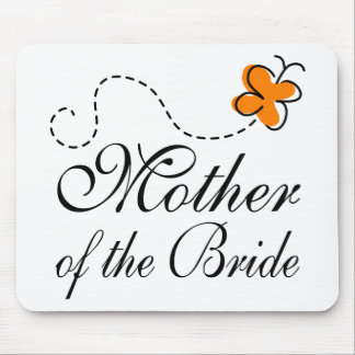 Orange Mother Of The Bride Mouse Pad