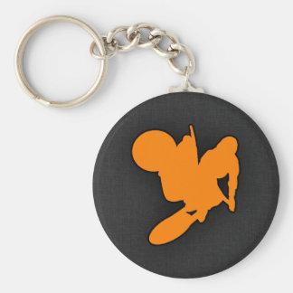 Orange Motocross Keychain