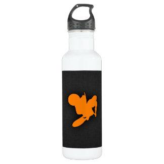 Orange Motocross Stainless Steel Water Bottle