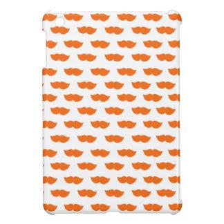 Orange Moustaches iPad Mini Cases