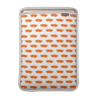 Orange Moustaches MacBook Air Sleeve