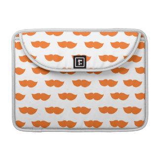 Orange Moustaches MacBook Pro Sleeve