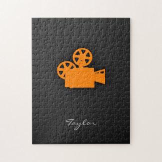 Orange Movie Camera Puzzle